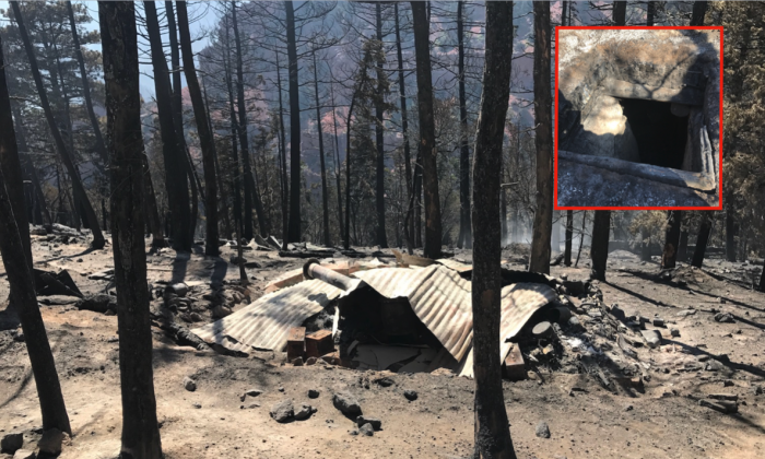 A Utah wildfire revealed an illegal network of cabins and bunkers within a two-mile radius on public land filled with guns, grenades and food. (Iron County Sheriff's Office)