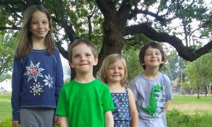 (L-R) Dinah Coltharp, 8; William Coltharp, 7; Haddie Coltharp, 4; and Seth Coltharp, 6. (GoFundMe)