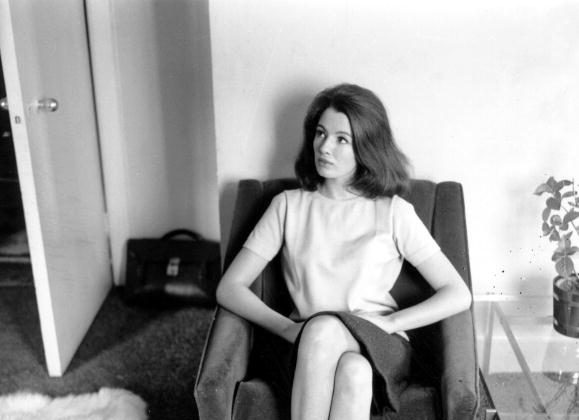 6th June 1963: Christine Keeler, (1942 - 2017 ), the English former model who in the company of Mandy Rice-Davies was influential in the suicide of Stephen Ward, an osteopath and the downfall of John Profumo, the Conservative cabinet minister with whom she had an affair. She is at home. (Ron Gerelli/Express/Getty Images)