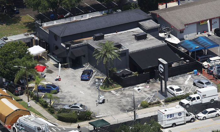 The Pulse nightclub where Omar Mateen killed 49 people on June 13, 2016 in Orlando, Florida. (Joe Raedle/Getty Images)