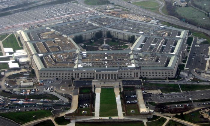 The Pentagon, headquarters of the United States Department of Defense, taken from an airplane in January 2008. (David B. Gleason/Wikimedia Commons)