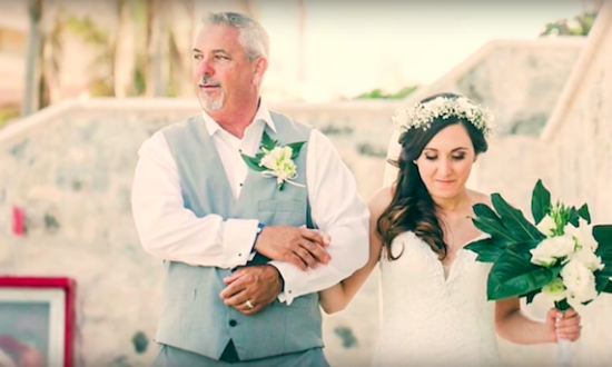 Dad refused to reveal the song he wanted for his daughter's wedding dance — at the reception, everyone's crying