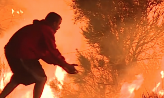 People thought he was crazy, dancing around outside in wildfire—then they see why he's so desperate