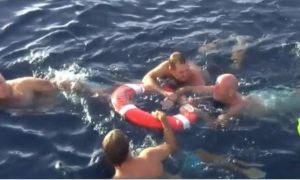 Man falls overboard in the middle of the night, but with all hope lost—he tries unthinkable