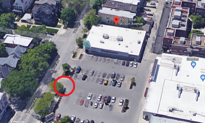 The location where a body was found in Uptown/Ravenswood, Chicago, on Dec. 7, 2017. (Screenshot via Google Maps)