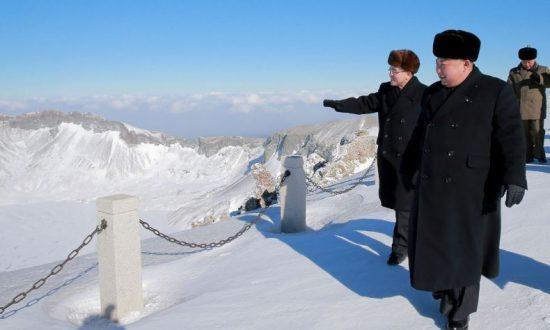 Kim Jong Un Releases Bizarre Propaganda Photo of Him Climbing 'Sacred Mountain'