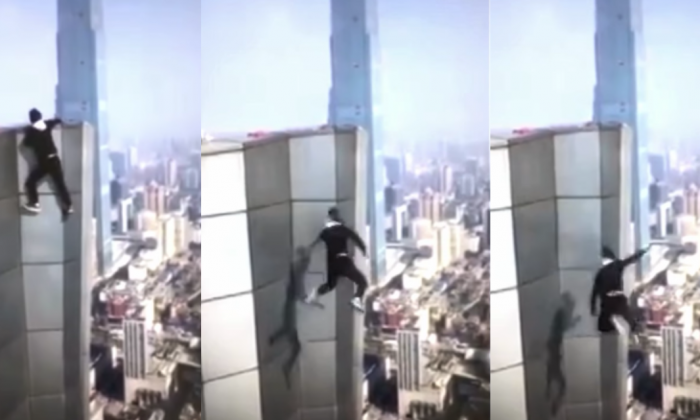 Daredevil climber dies after plunge from Chinese skyscraper