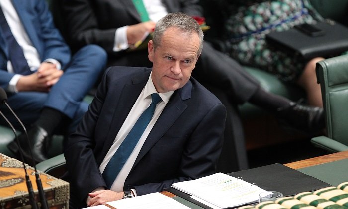 Leader of the Australian opposition Bill Shorten during question time at Parliament House on Oct. 25, 2017 in Canberra, Australia. (Stefan Postles/Getty Images)