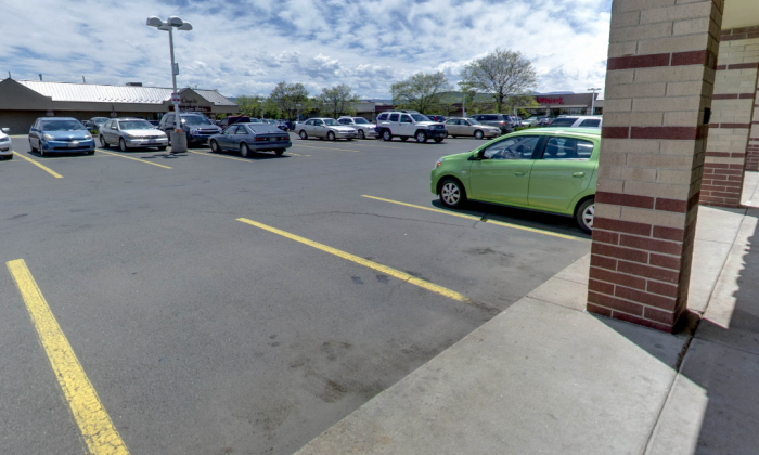 The parking lot where the littering took place at the Interstate 70 and West 32nd Avenue. (Screenshot via Google Maps)