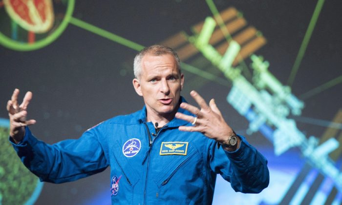 David Saint-Jacques discusses his upcoming mission to the International Space Station at the Canadian Space Agency headquarters in Saint Hubert, Que., on Nov. 29, 2017. (Ryan Remiorz/The Canadian Press)