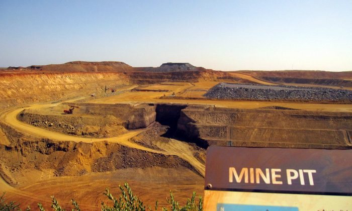 File photo of the pit at Citic Pacific Mining's Sino Iron magnetite iron ore project in Western Australia. The project is yet another black eye for Chinese state-owned enterprises due to cost overruns, poor management, and lack of due diligence. (Amy Coopes/AFP/Getty Images)