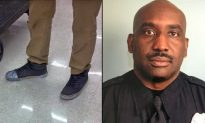 Officer Stops and Notices Tape on Teen Worker's Shoes, Buys Him Some New Ones