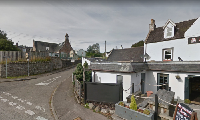 The road leading up to Munlochy Primary School in Inverness, Scotland, where the boy caught the school bus. (Screenshot/Google Maps)