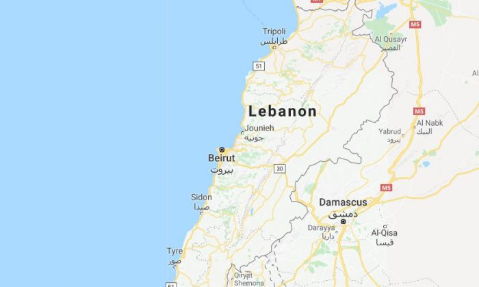 The crime took place on a road in Beirut, Lebanon. (Google Maps screenshot)