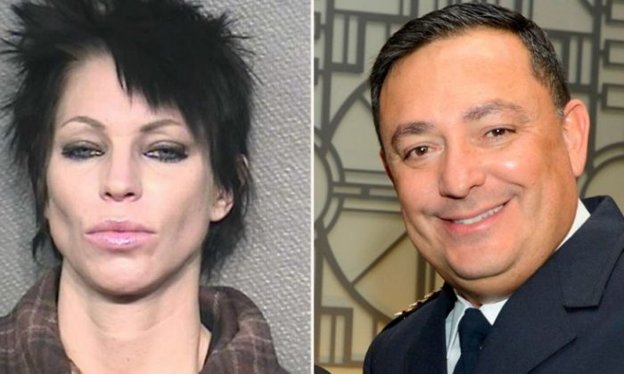 Danielle Paris, seen in a mugshot for a different offense, was arrested after she allegedly spit in the face of Houston Police Chief Art Acevedo.  (Houston Police Department)