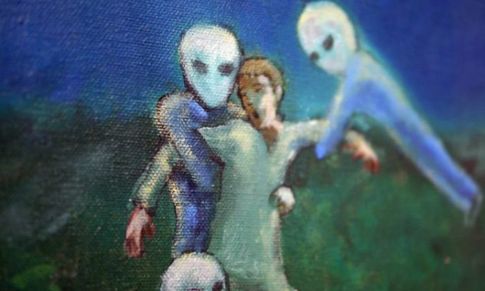 Painting by David Huggins. (Love and Saucers/Curator Pictures)