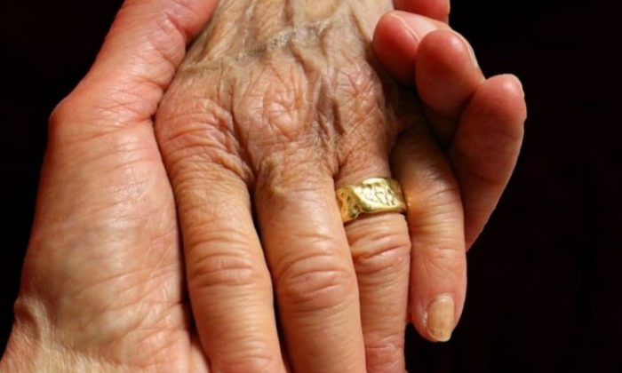 An elderly couple have died within minutes of each other after being married for 71 years.