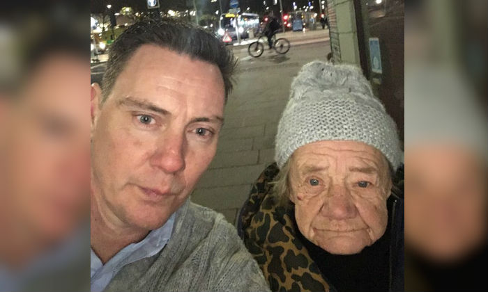 Roger Hartigan and his colleagues felt they couldn't leave the vunerable homeless woman out on the streets. (Photo courtesy of Roger Hartigan)