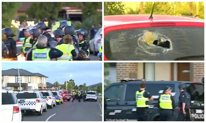 Riot police were called to deal with a party in a Melbourne suburb that got out of control. It took police hours to get the situation under control, said one street resident. (Channel Nine)