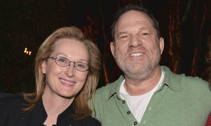 Actress Meryl Streep with producer Harvey Weinstein at the DGA Theater on Jan. 5, 2014 in Los Angeles, California. (Alberto E. Rodriguez/Getty Images)