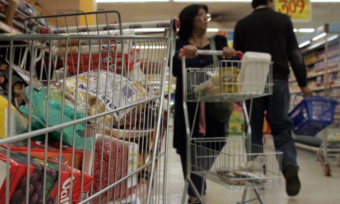 A supermarket in Sao Paulo, Brazil, 02 June 2006.   (Mauricio Lima/AFP/Getty Images)