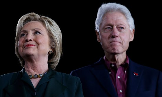 Former Secretary of State Hillary Clinton and former President Bill Clinton in Las Vegas on Feb. 19, 2016 (Justin Sullivan/Getty Images)