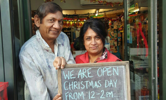 Couple Open Their Store on Christmas Day so the Lonely Can Come in for Free Treats and Hugs