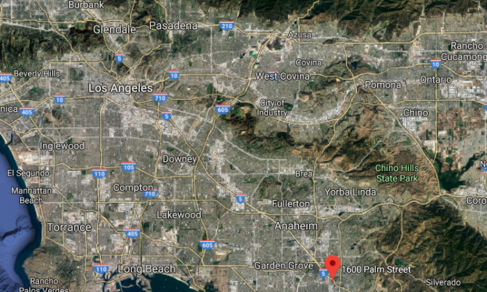 The approximate location of an alleged attempted rape in Santa Ana, Calif., on Dec. 18, 2017. (Screenshot via Google Maps)