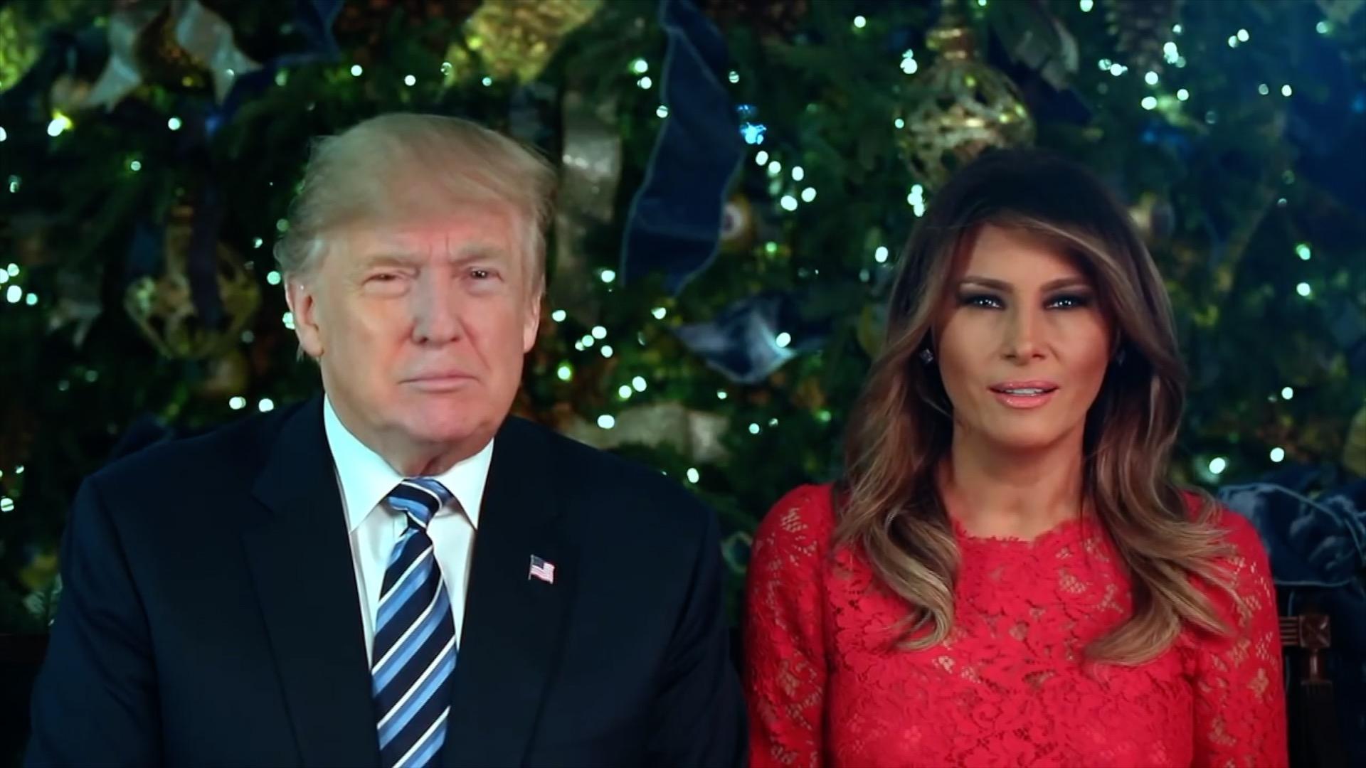 President Trump And First Lady Melania Trump Send Christmas