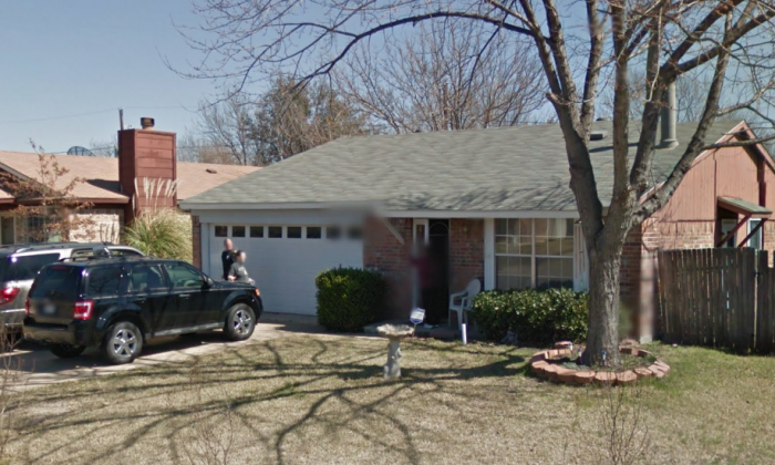 Jackie Goulet's home in Arlington, Texas, before the fire on Dec. 25, 2017. (Screenshot via Google Street View)