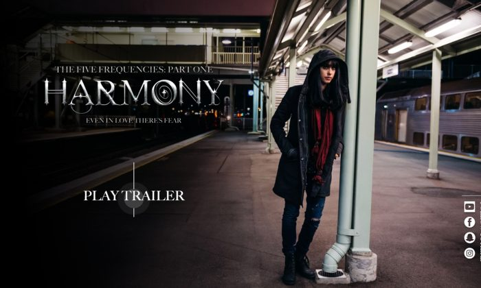 """Jessica Falkholt has the starring role in the upcoming film """"Harmony: The Five Frequencies."""" (thefivefrequencies.com)"""