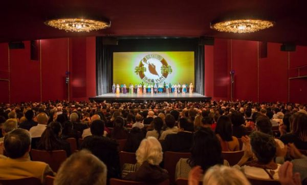 Shen Yun Performing Arts' curtain call at The Kennedy Center.