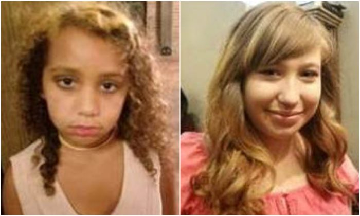 Luluvioletta Mariposa Bandera-magret (L) and Lilianais Victoria Cake Griffith. (Round Rock Police Department/Center for Missing and Exploited Children)