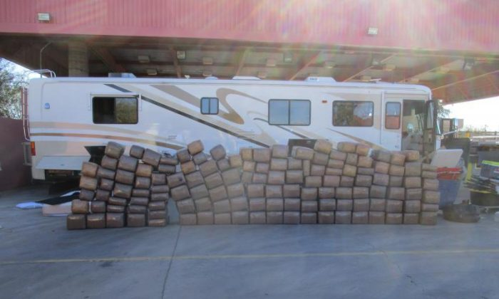 A man was accused of trying to smuggle 2,448 pounds of marijuana from Mexico to the United States on Dec. 30, 2017. (U.S. Customs and Border Protection)