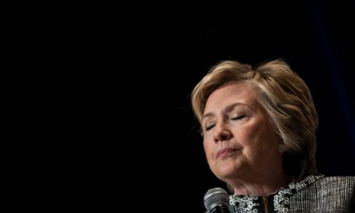 Former Secretary of State and 2016 presidential candidate Hillary Clinton during BookExpo 2017 at the Jacob K. Javits Convention Center, in New York City on June 1, 2017. (Drew Angerer/Getty Images)