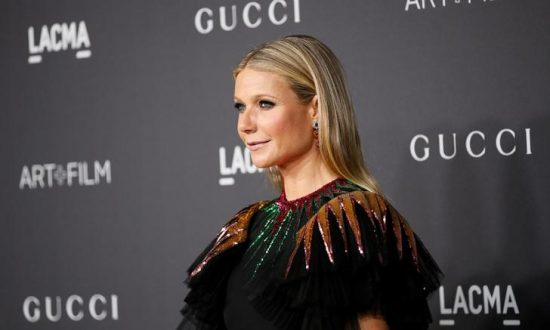 Actor Gwyneth Paltrow poses at the Los Angeles County Museum of Art (LACMA) Art+Film Gala in Los Angeles, Oct. 29, 2016. (Reuters/Danny Moloshok)