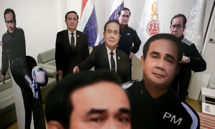 Thailand's general-turned-PM leaves cardboard cutout to avoid press