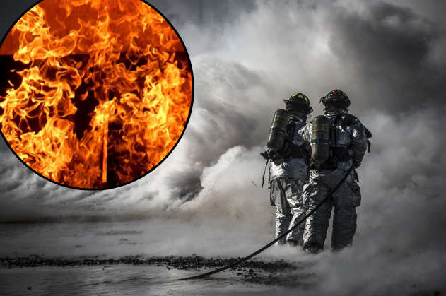 Firefighters battling a blaze unrelated to article. (Pixabay / CCO)