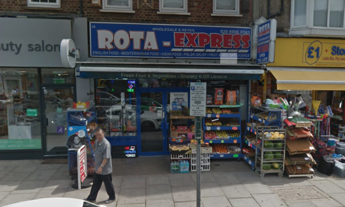 The Rota Express shop in Mill Hill, north London, where Vijay Patel worked. (Google Maps)
