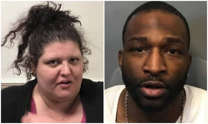 Alyce Davenport (L) and Diron Conyers allegedly stole a safe from Davenport's mother's house. (Warren Police Department)