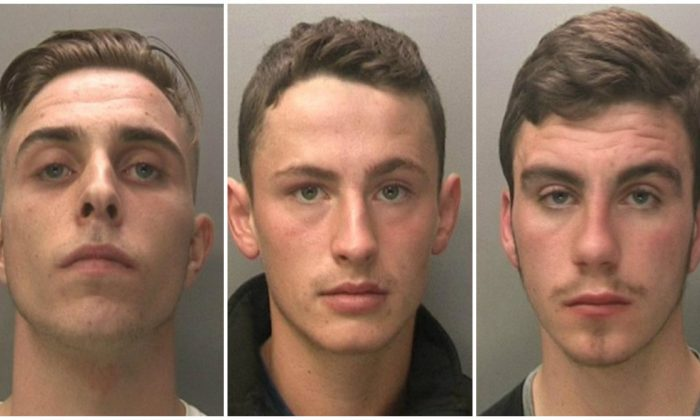 Jake Cairns, Brandon Sharples and Jack McInally (L to R) are pictured in this undated image from West Midlands Police. The three have been sentenced for sexual exploitation after holding a teenager captive (West Midlands Police)