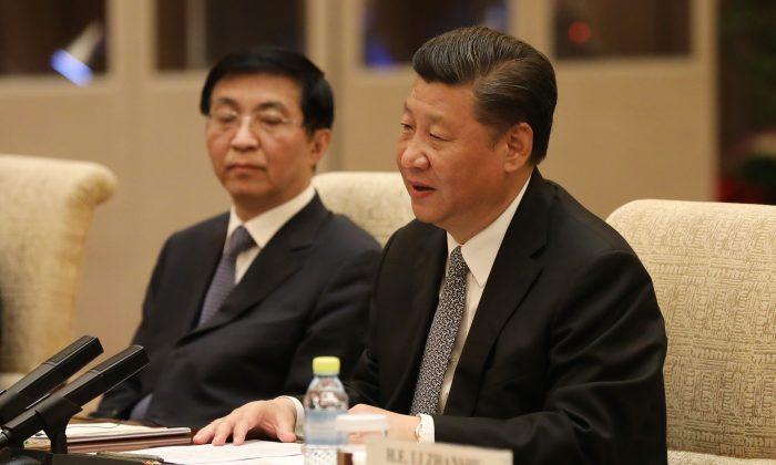 Chinese President Xi Jinping during a bilateral meeting at Diaoyutai State Guesthouse in Beijing, China on May 16, 2017. (Wu Hong-Pool/Getty Images)