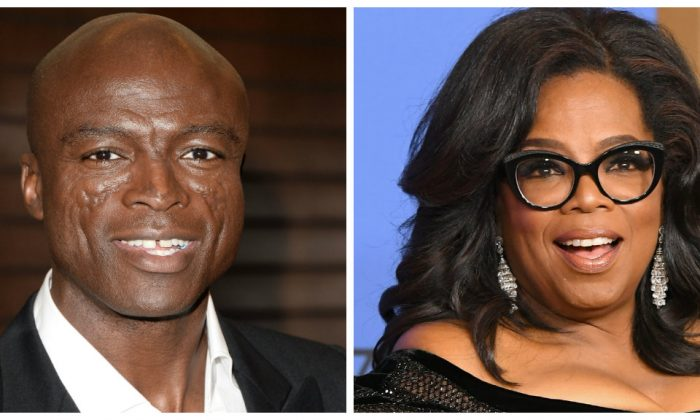 Composite image of Seal (L) and Oprah Winfrey (R) (Matt Winkelmeyer/Getty Images and Kevin Winter/Getty Images)