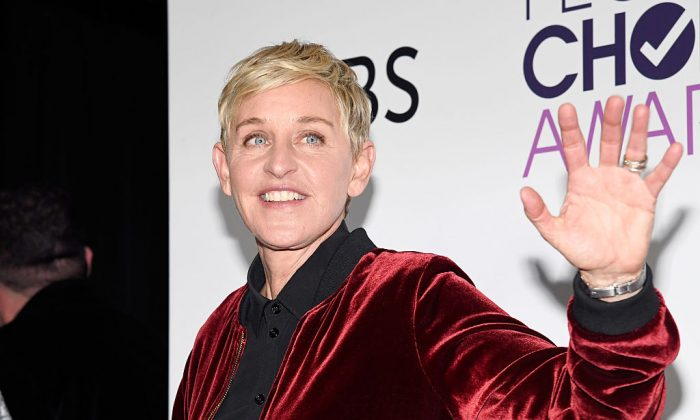 Ellen DeGeneres poses in the press room during the People's Choice Awards 2017 on Jan. 18, 2017 in Los Angeles, California. (Kevork Djansezian/Getty Images)