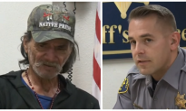 Officer approaches homeless man with a citation in hand. But what he hears next—he's throwing it out