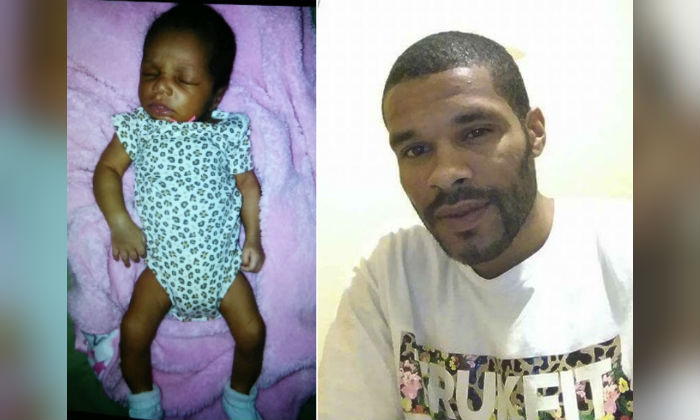 Two-week old Bella Osterman (L) was turned in by a woman, but authorities are still searching for the father, Cordney Osterman (R) who police say forcefully took the girl from her home. (Detroit Police Department)
