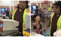 Little girls were positive their cashier was famous Disney character—but freak out at how he reacts