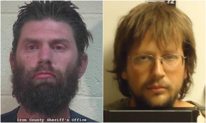 L: Samuel Shaffer. (Iron County Sheriff's Office); R: John Coltharp. (Sanpete County Jail)