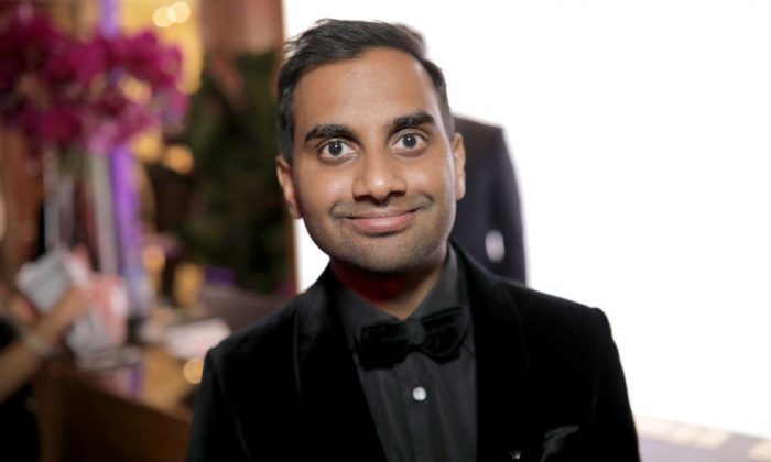 Actor/producer Aziz Ansari at the Official Viewing and After Party of The Golden Globe Awards hosted by The Hollywood Foreign Press Association on Jan. 7, 2018, in Beverly Hills, Calif.  (Greg Doherty/Getty Images)