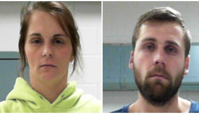 Taylor Dawn Coburn, 25 (L) and Trent Austin Coburn, 29. (WV Regional Jail)